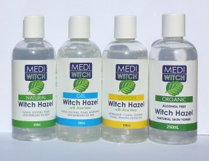 Mediwitch witch hazel, Mediwitch witch hazel with Lemon and Aloe vera, Mediwitch witch hazel with Aloe and Menthol Gel, Mediwitch Organic Non-Alcoholic witch haze